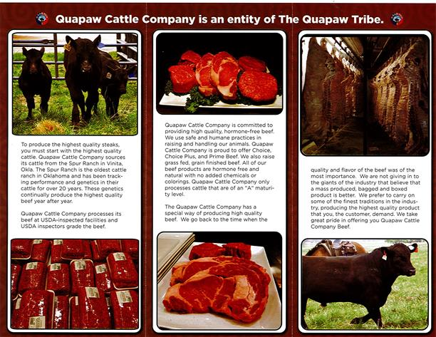Quapaw Cattle Company is an Entity of the Quapaw Tribe