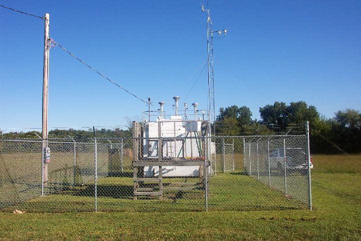 Air monitors located at the Quapaw Tribe's Industrial Park
