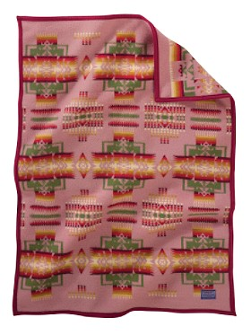 Chief Joseph Muchacho Baby Blanket Antique Rose